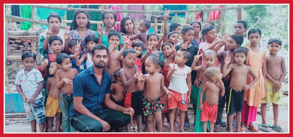 liton with group of children 080d7561